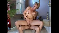 Blonde milf Kelly Leigh gets hardcore pussy fuck on the sofa with a stud's fat dick