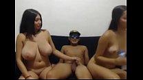 Sexy amateur girls having sex show