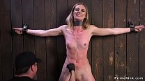 Babe bound in b. devices tormented