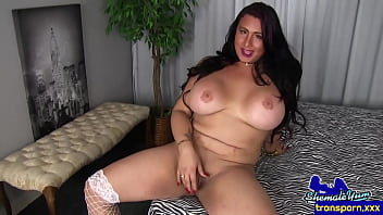 Busty shemale mature sprays her spunk