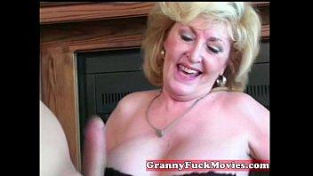 Cute blonde horny granny 5 min