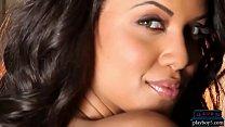 Ebony MILF model Amina Malakona shows us her curves 6 min