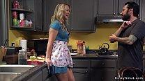 Milf dominates teen with her stepdad