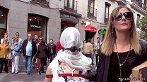 Slim Spanish slut anal banged in public