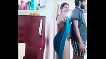 Swathi naidu romance with boyfriend while cooking