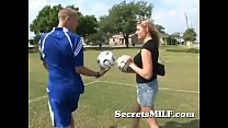 Hot Soccer Mom Learns To Play With The Coach's Balls