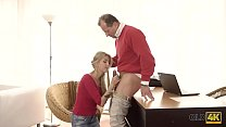 OLD4K. Hot sex of old and young lovers culminates with nice cumshot
