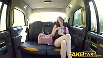 Fake Taxi Hairy redhead pussy gets fucked and cum splattered in taxi