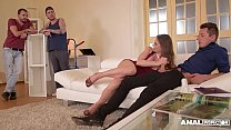 Anal inspectors get to see hot Cathy Heaven's ass & pussy double penetrated