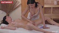 LETSDOEIT - Horny Lesbian Massagist a. Her Client (Coco De Mal & Eileen Sue)