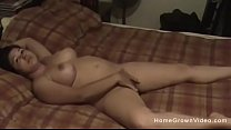 Homemade video of my thick wife playing and fucking