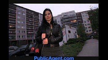 PublicAgent Krystina bends over for a wallet full of cash