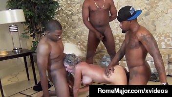 Black Gang Bang! Rome Major & 3 Bros Fuck White Jade Jamison