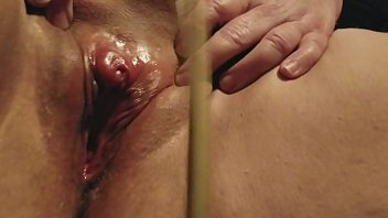 Urethra play and clit spanking