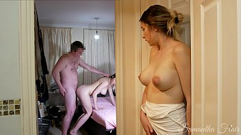 She watches her TWIN SISTER fuck her DAD, then takes her turn! kinkycouple111 14 min