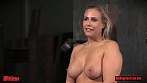 Sexy bdsm chick dominated by toying