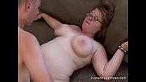 Blonde amateur fatty gets fucked by her boyfriend