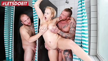 LETSDOEIT - Busty Stepsister Angel Wicky Hot Shower Threesome
