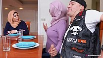 Protetcive MILF Julianna Vega Competes with Daughter to service Daughter's Boyfriend Better