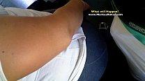 My Dick Stroke Aunt's Fat Ass and Legs in Public Train