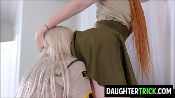 Teen girl scouts eats moms pussies