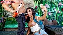 LETSDOEIT - Horny Tourist Lana Roy Has Some Fun With Hostel Gardener