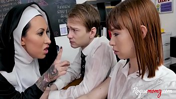 Christian NUN not so holy with students- Lilly Lane & Alexa Nova