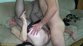 hairy 91 years old mom deep banged