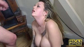 Chubby sub with big boobs gets pounded 8 min