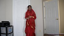Horny Indian mother and son in law having fun
