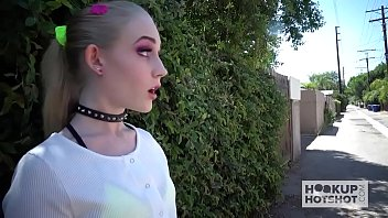Blonde babe Emma Starletto goes on second rough online date