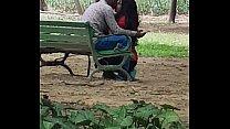 Beautiful Indian teen kissing in lodhi garden