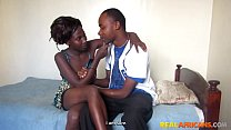 Real African Amateur Face Fucked and Fingered On Table