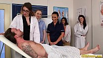 Nurses blowing cfnm cock in group domination 5 min