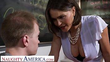 Naughty America - Professor Krissy Lynn takes her students cock