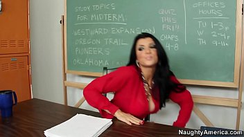 Naughty America - Find Your Fantasy Teacher Romi Rain fucking in the chair with her tits
