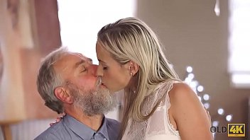 OLD4K. Old man is happy to enjoy tender body of young student Shanie Ryan
