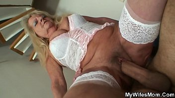 Hairy blonde m. inlaw