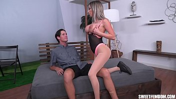 Fit Chick Makes Him Lick His Cum Off Her Tits After Riding His Dick