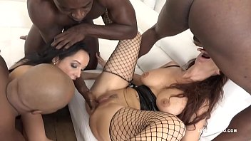 Big butt sluts Syren De Mer & Francys Belle get their assholes stretched
