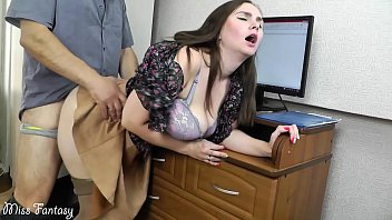 Wife cheating on husband at work with the boss 10 min