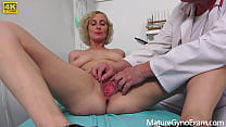 Freaky anal gyno exam of horny busty MILF Kaylea Tocnell