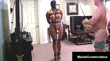Cambodian Cougar Maxine X Strapped To Pole & Fucked Doggy!
