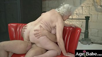 Granny Norma got a big load from Rob's meaty cock