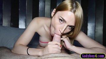 Big boobs Russian tranny pov blowjob and anal fucked