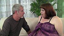 Older guy fucks an amateur brunette plumper