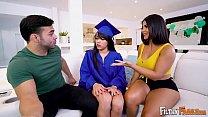 FILTHY FAMILY - Julz The Virgin Fucks Her Step Parents, Rose Monroe & Derrick Ferrari!