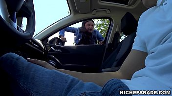 NICHE PARADE - Black Amateur Slut Gives Me Blowjob In Automobile For Money