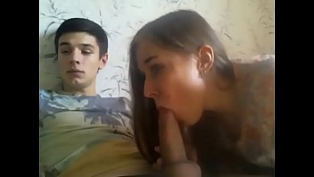Stepbrother with unreal big dick cums inside his naughty 18yo stepsis on webcam