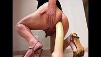 Muy voraz penetracion anal con Dildo Gigante Toy Giant extreme